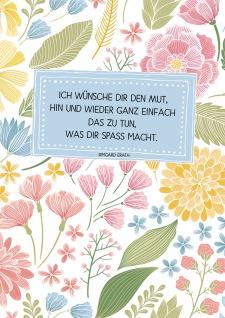 Postkarte Ich wünsche dir (10 St) Blumen Irmgard Erath Grußkarte