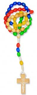 Missionsrosenkranz geknüpft 5 Farben 31 cm