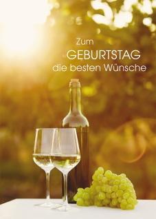 Glückwunschkarte Geburtstag Weinglas 6 St Kuvert Wünsche Trauben Genuss Freizeit