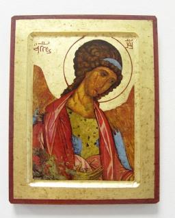 Ikone Heiliger Michael 25 cm Rublev vergoldet Handarbeit aus Griechenland