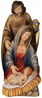 Familiengruppe 3-teilig Holzfigur geschnitzt Krippenfigur Südtirol