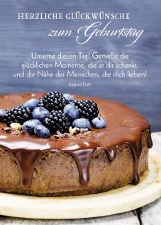 Postkarte Herzliche Glückwünsche zum Geburtstag (10 St) Schokoladentorte Erath