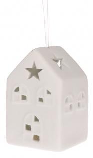 Lichter Zeit Haus aus Porzellan mit LED Licht Christbaum Dekoration
