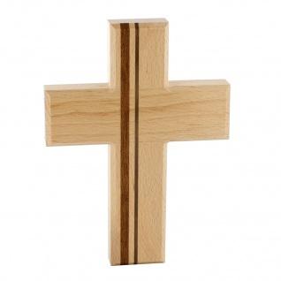 Wandkreuz Holzkreuz Buche Nussbaumholz Kirschenholz Kruzifix Kreuz 17, 5 cm