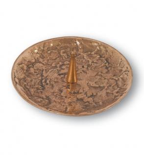Kerzenhalter Ø 11 cm Bronze Kerzenständer Kommunion Kerze Taufkerze