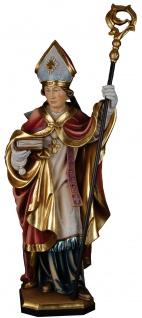 Heiliger Severin von Köln Holzfigur geschnitzt Südtirol Schutzpatron Bischof