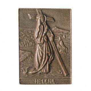 Namenstag Helena 8 x 6 cm Bronzeplakette Bronzerelief Wandbild Schutzpatron
