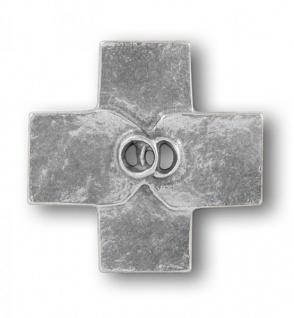 Wandkreuz Hochzeit Ehekreuz Eheringe 8 cm Neusilber Kreuz