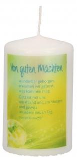 Stumpenkerze Von guten Mächten Dietrich Bonhoeffer Wachs 10 cm Tischkerze