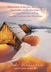 Postkarte Frohe Weihnachten und ein gutes neues Jahr (10 St) Herrnhuter Stern
