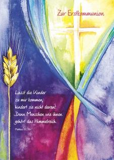 Kommunionkarte Zur Erstkommunion (6 Stck) Matthäus Grußkarte Kommunion Kuvert