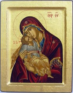 Ikone Madonna Glikofiloussa 12 x 10 cm Griechenland
