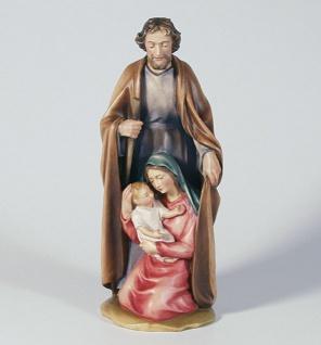 Blockkrippe bunt bemalt 20 cm Holz geschnitzt Krippen Figuren Weihnachten