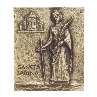 Namenstag Sabine Bronzeplakette 13 x 10 cm Bronzerelief Wandbild Schutzpatron - Vorschau