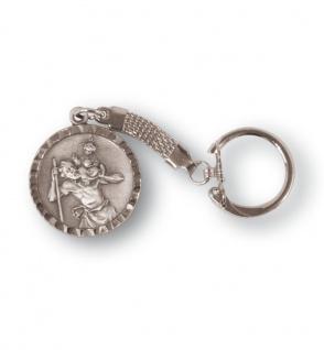 Schlüsselanhänger Christopherus 3 cm versilbert Christopherus Anhänger