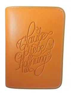 Gotteslobhülle Glaube Liebe Hoffung Kunstleder orange Gesangbuch Einband