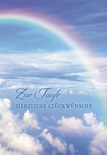 Glückwunschkarte Zur Taufe herzliche Glückwünsche (6 St) Regenbogen Partmann
