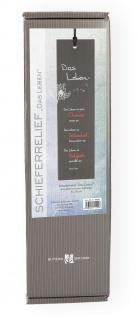 Relief Das Leben Mutter Teresa Schiefer 30 cm Lederband Geschenkverpackung