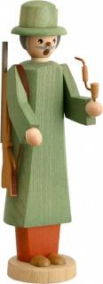 Räuchermännchen Oberförster 20 cm Seiffen Erzgebirge Handarbeit Holzfigur