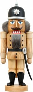Nussknacker Soldat natur 37 cm Holz-Figur Handarbeit aus Seiffen im Erzgebirge