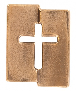 Kreuz Plakette aus Bronze 5, 5 cm Kerstin Stark Begleiter für alle Tage