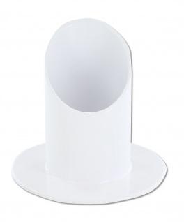 Kerzenhalter weiß lackiert Ø 9 cm Messing Kerze Ø 4 cm Kerzenständer Kommunion