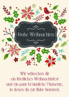 Weihnachtskarte Frohe Weihnachten, Nicole Weidner (6 Stck)