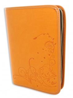 Gotteslobhülle Blumen Blüten Kunstleder Orange Gesangbuch Einband Katholisch