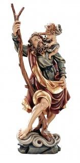 Heiliger Christophorus Heiligenfigur Holz geschnitzt Südtirol Schutzpatron