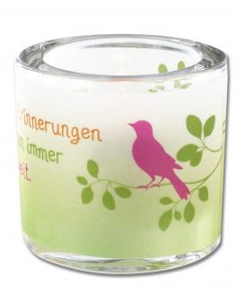 Glaswindlicht Erinnerungen Teelicht Kerzenhalter Geschenkbox Glas für Windlicht