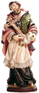 Heiliger Eulogius von Córdoba Holzfigur geschnitzt Südtirol