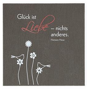 Wandrelief Glück ist Liebe Hermann Hesse Schiefertafel 10 cm Wandbild Deko