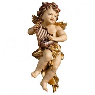 Putte mit Orgel Holzfigur geschnitzt Südtirol Puttenfigur