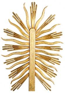 Strahlenkranz für Figuren Holzfigur geschnitzt Südtirol Heiligenfigur