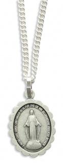 Maria Empfängnis Medaille oxydiert, oval 2, 2 cm Religiöser Schmuck