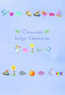 Kommunionkarte Deine erste heilige Kommunion (6 Stck) Grußkarte Erstkommunion