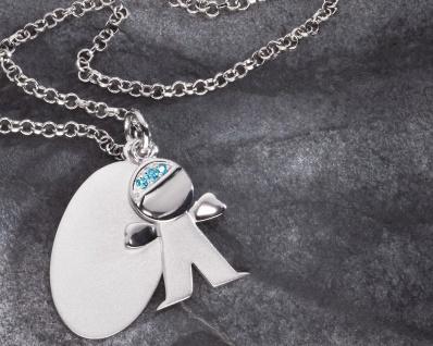 Schmuckanhänger Junge 2-tlg mit Silberkette Geschenk für die Taufe