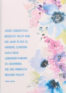 Geburtstagskarte Jeder Geburtstag...Glückwunsch (6 Stück) Grußkarte mit Kuvert