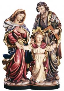 Heilige Familie mit Jesuknabe Holzfigur geschnitzt Südtirol
