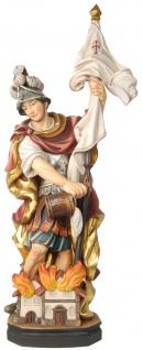 Heiliger Florian barock Holzfigur geschnitzt Südtirol Schutzpatron Heiligenfigur