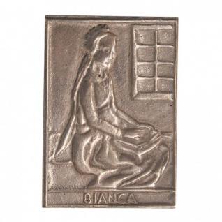 Namenstag Bianca 8 x 6 cm Bronzeplakette