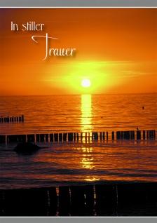 Trauerkarte Psalm Meer In stiller Trauer (6 Stck) Bibel Beileidskarte Kondolenz