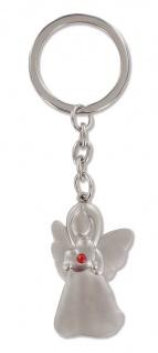 Schlüsselanhänger Engel Metall roter Glasstein Engel Anhänger