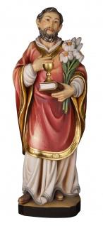 Heiliger Florinus mit Kelch Holzfigur geschnitzt Südtirol Schutzpatron