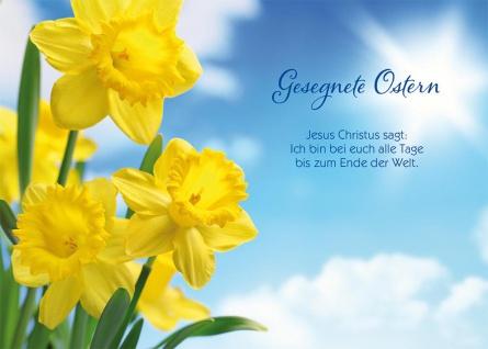 Postkarte Ostern 10 St Adressfeld Bibelwort Matthäus Auferstehung Glaube Jesus