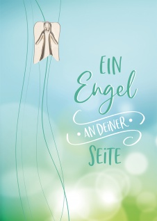 Grußkarte Engel-Plakette Kerstin Stark 5 St Kuvert Metall Irischer Segenswunsch
