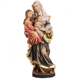 Heilige Anna Selbdritt Holzfigur geschnitzt Südtirol Schutzpatronin Mutter