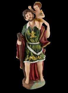 Heiliger Christopherus handbemalt 30 cm Schutzpatron Heiligenfigur