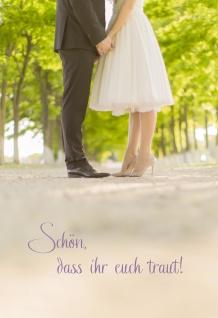 Hochzeitskarte Schön, dass ihr euch traut! (6 Stck) Kuvert Grußkarte