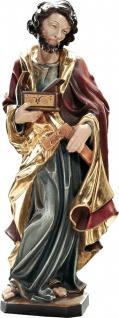 Heiliger Josef Holz, geschnitzt handbemalt Südtiroler Schnitzkunst